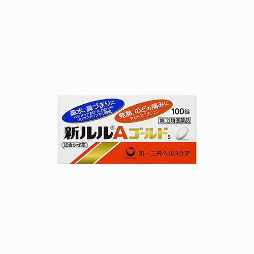 재팬픽-[DAIICHI] 신 루루 A 골드 100정, 감기약