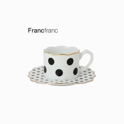 japantop-[FRANCFRANC] 프랑프랑 아도무 컵&받침 세트 도트