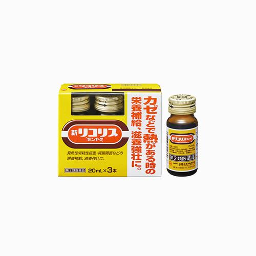 재팬픽-[ZENYAKU] 신 리코리스 감기약 20ml, 3병