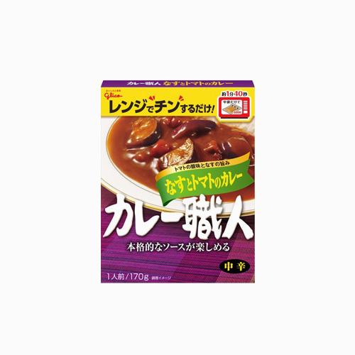 japantop-[GLICO] 쇼쿠닌 가지 토마토 카레 170g