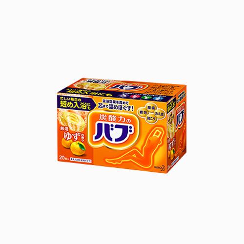 japantop-[KAO] 버블 허브 입욕제 유자의향기 20봉