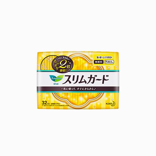 japantop-[KAO] 카오 로리에 생리대 슬림 가드 날개없음 20.5cm 32개입 노랑