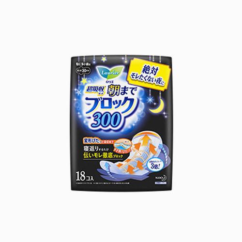 japantop-[KAO] 카오 로리에 생리대 초흡수 가드 300 날개형 30cm 18개입 블루 (나이트용)
