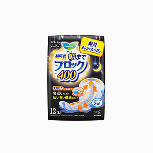 japantop-[KAO] 카오 로리에 생리대 초흡수 가드 400 날개형 40cm 12개입 노랑 (나이트용)