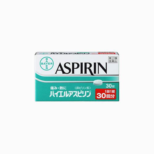재팬픽-[BAYER] 바이엘 아스피린 30정, 해열 진통제