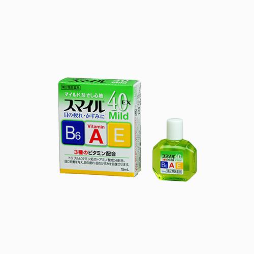 재팬픽-[LION] 스마일 40EX마일드 15mm 트리플 비타민 안약