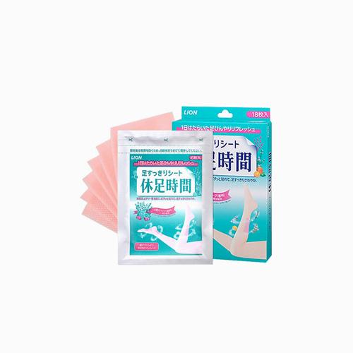 재팬픽-[LION] 휴족시간 일반 1갑 18매, 지압 1갑 12매