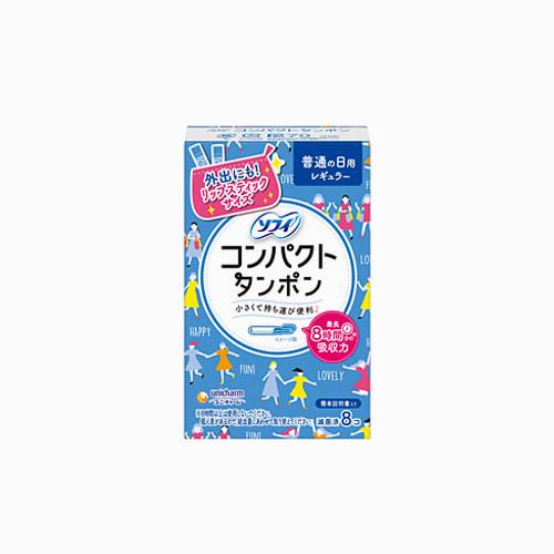 japantop-[UNICHARM] 유니참 소피 생리대 콘팩트탐폰 레귤러 블루 8개입