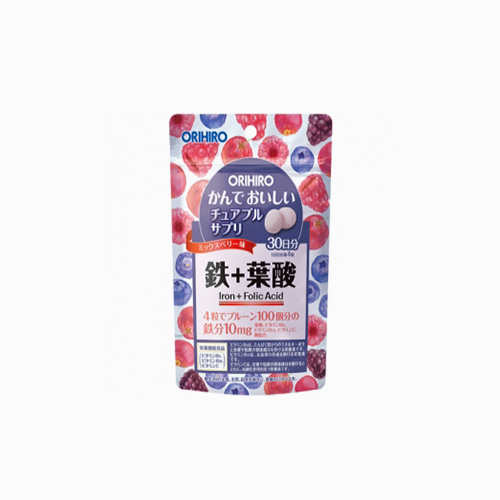 japantop-[ORIHIRO] 오리히로 씹어먹는 철&엽산 120정