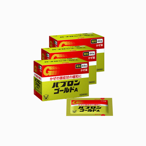 재팬픽-[TAISHO] 다이쇼 파브론 골드 A 44, 종합 감기약, 3개 세트