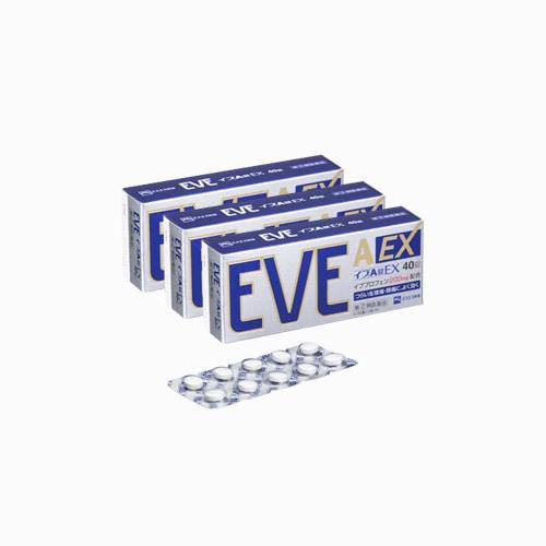 재팬픽-[SSP] EVE A EX, 이브 A EX 40정, 종합진통제, 3개 세트
