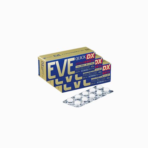 재팬픽-[SSP] EVE QUICK DX, 이브 퀵 DX 40정, 종합진통제, 3개 세트