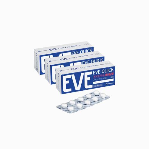 재팬픽-[SSP] EVE QUICK, 이브 퀵 40정, 종합진통제, 3개 세트